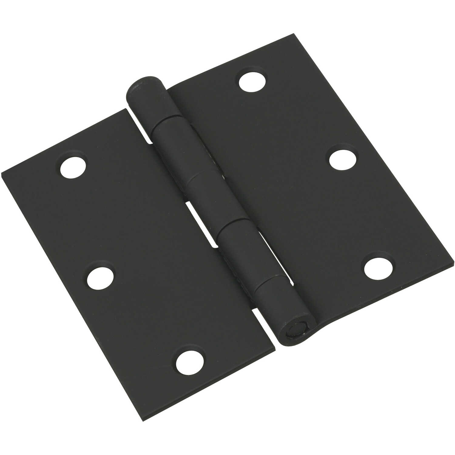 National Hardware  3-1/2 in. L Black  Steel  Door Hinge  1 pk