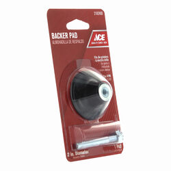 Ace  2 in. Dia. Rubber  Backing Pad  1/4 in.  25000 rpm 1 pc.