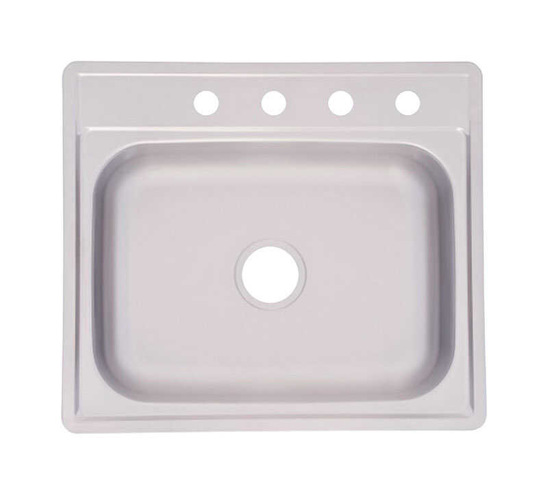 Kindred  Stainless Steel  Top Mount  25 in. W x 22 in. L Kitchen Sink
