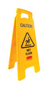 Rubbermaid  English  22-3/4 in. H x 10-7/8 in. W x 10-7/8 in. W x 22-3/4 in. H Easel Floor Sign  Pla