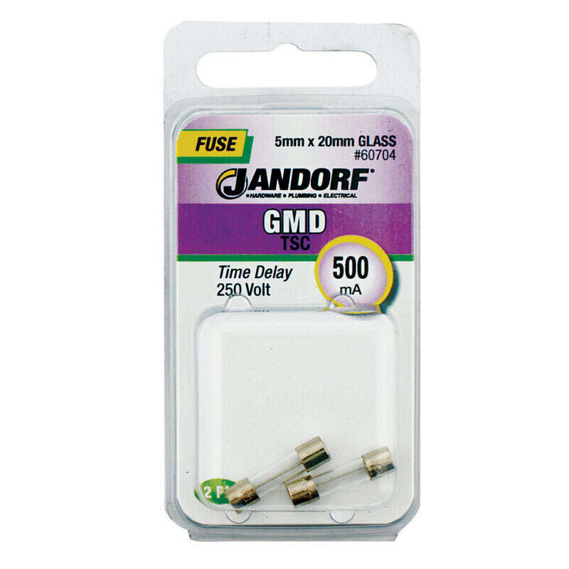 Jandorf  GMD  500  250 volts Glass  Time Delay Fuse  2 pk