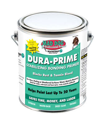 Mad Dog  Dura-Prime  Clear  Water-Based  Acrylic Latex  Bonding Primer  5 gal.