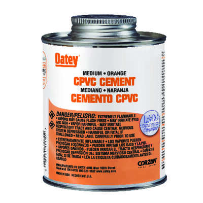Oatey  Orange  Cement  For CPVC 32 oz.