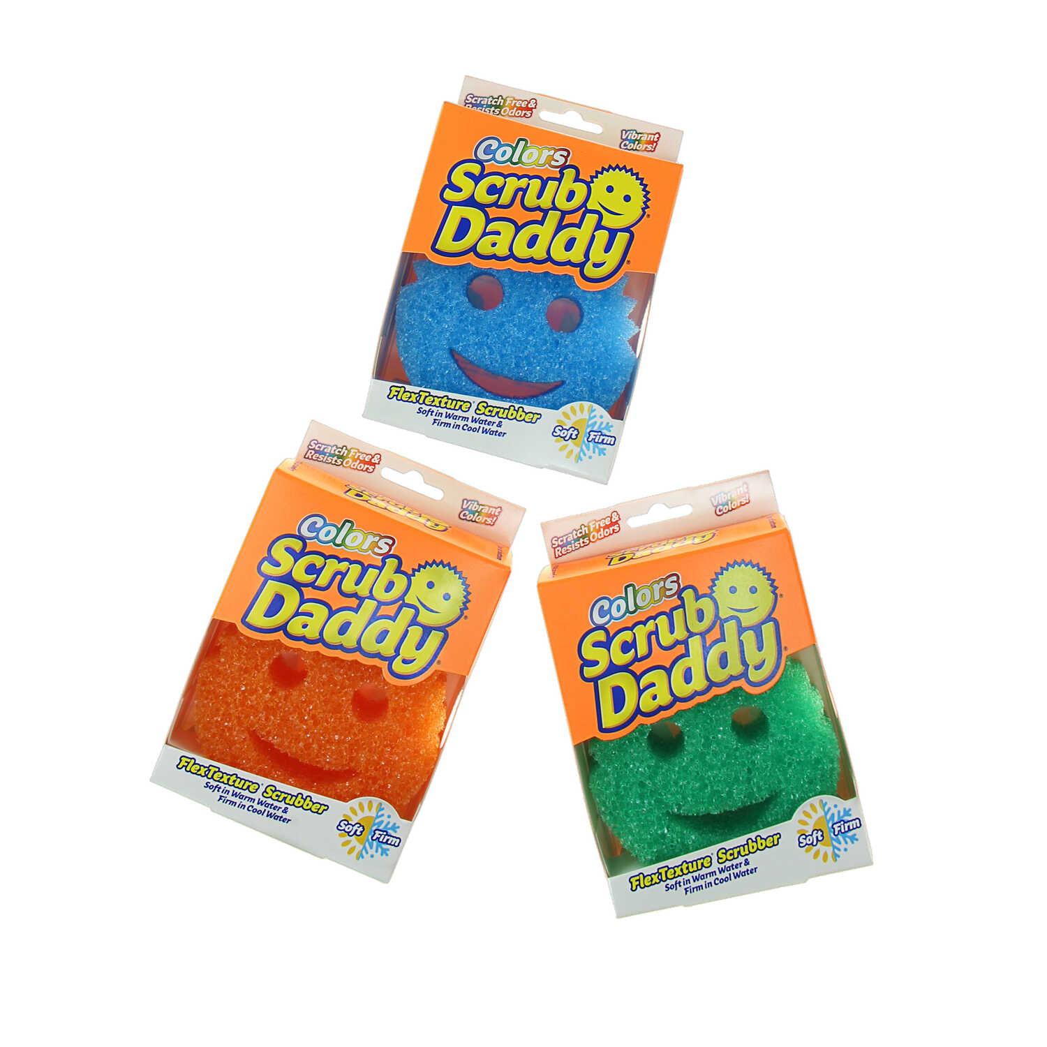 Scrub Daddy  Colors  Scratch Free Sponge  1 pk