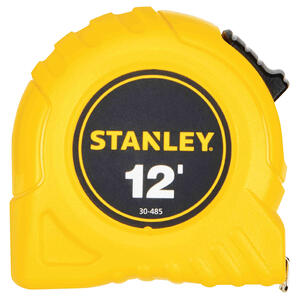Stanley  12 ft. L x 0.5 in. W Tape Measure  Yellow  1 pk