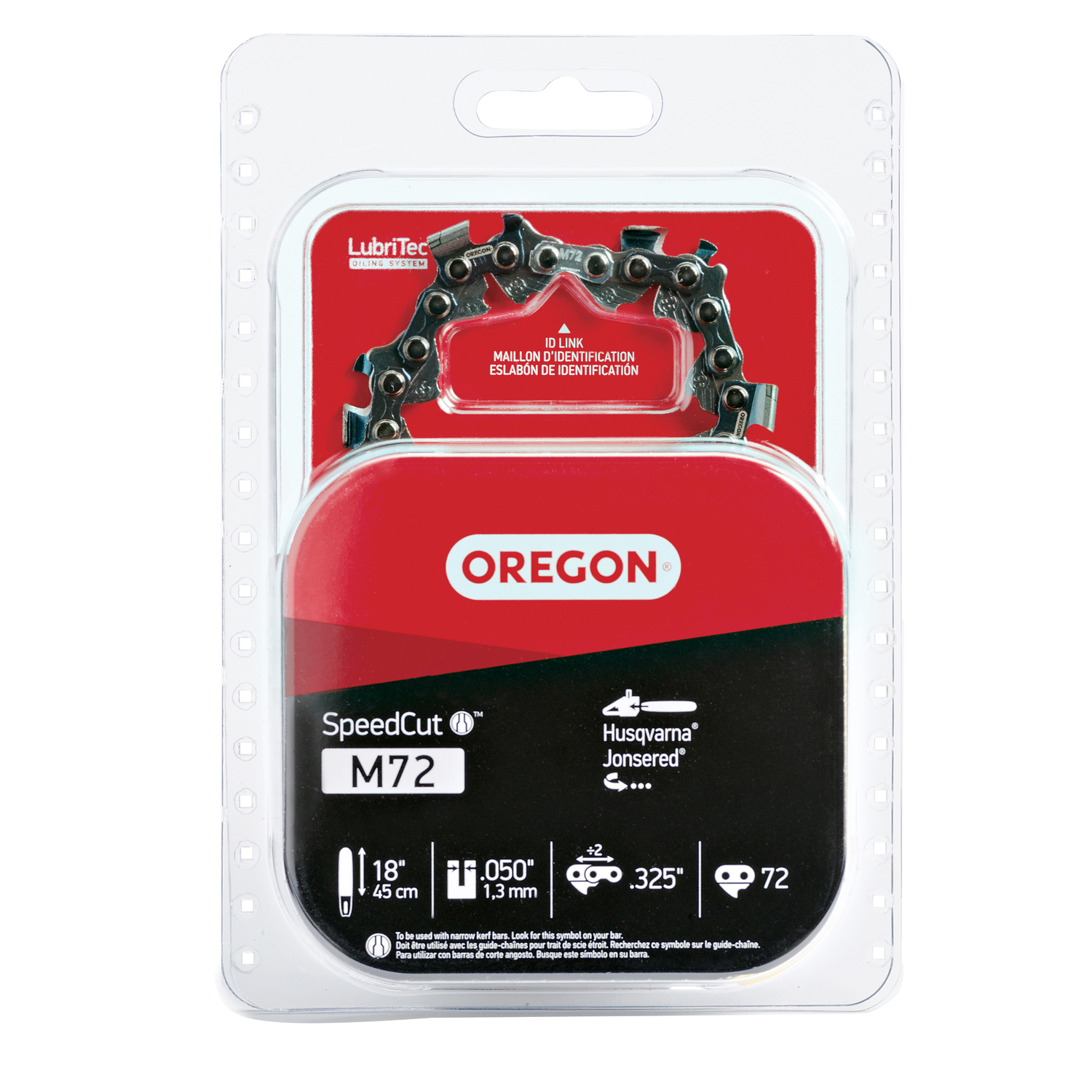 Oregon  SpeedCut  18 in. L 72 links Chainsaw Chain