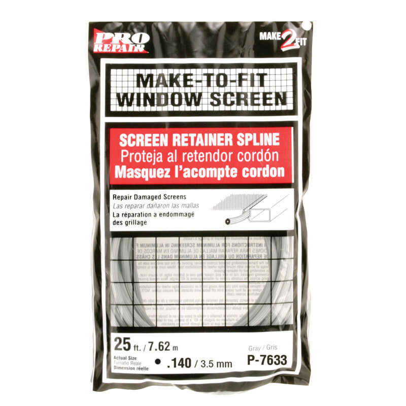 Prime-Line  0.14 in. Dia. x 25 in. L Screen Spline
