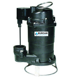 Burcam  3/4 hp 1875 gph Cast Iron  Vertical Float Switch  Grinding Pump