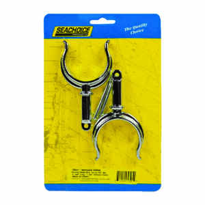 Seachoice  Chrome-Plated  Zinc  1-3/4 in. L x 1/2 in. W Oarlock Horns  2 pk