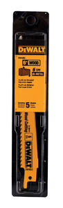 DeWalt  6 in. Bi-Metal  Reciprocating Saw Blade  6 TPI 5 pk
