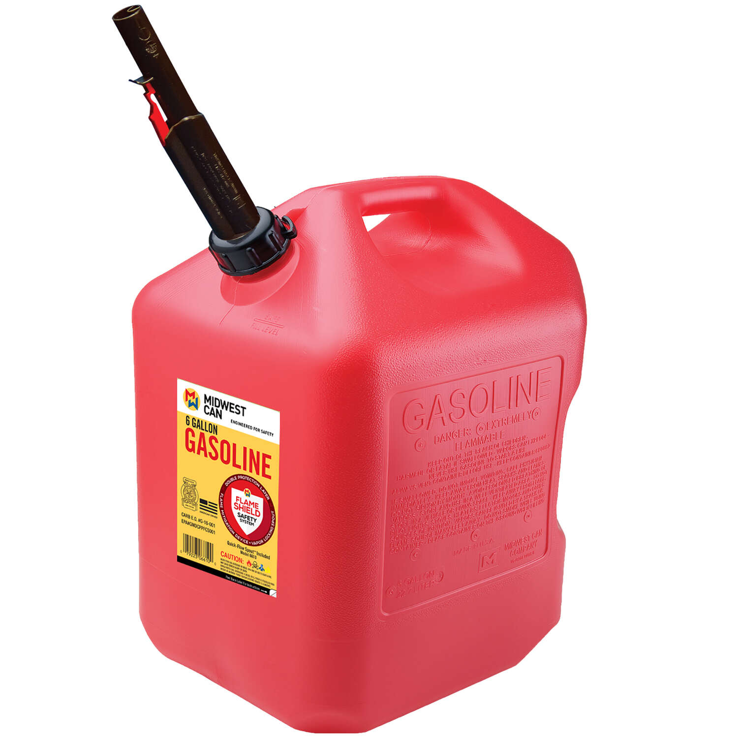 Midwest Can FlameShield Safety System Plastic Gas Can 6 gal.