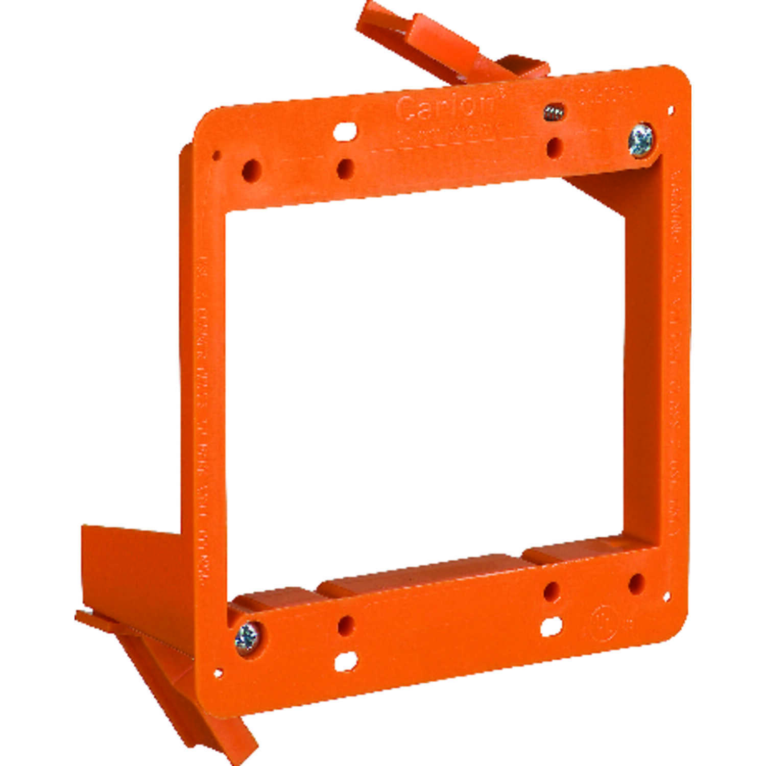 Carlon  4.28 in. L 4.25 in. Rectangle  PVC  2 gang Low Voltage Mounting Bracket  Orange