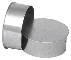 Imperial Manufacturing  8 in.  x 8 in.  x 8 in.  Galvanized Steel  Stove Pipe Tee Cap Flow Tee