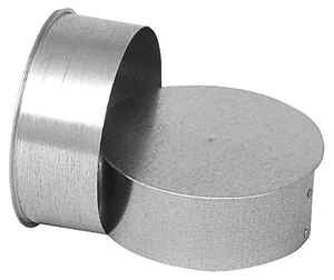 Imperial Manufacturing  8 in.  x 8 in.  x 8 in.  Galvanized Steel  Stove Pipe TeeTee CapFlow TeeChim