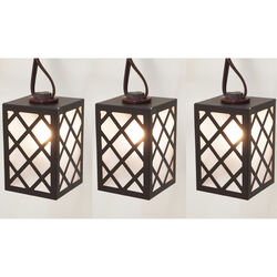 Living Accents  C7  Brown Lantern  Light Set  Clear  9 ft. 10 lights