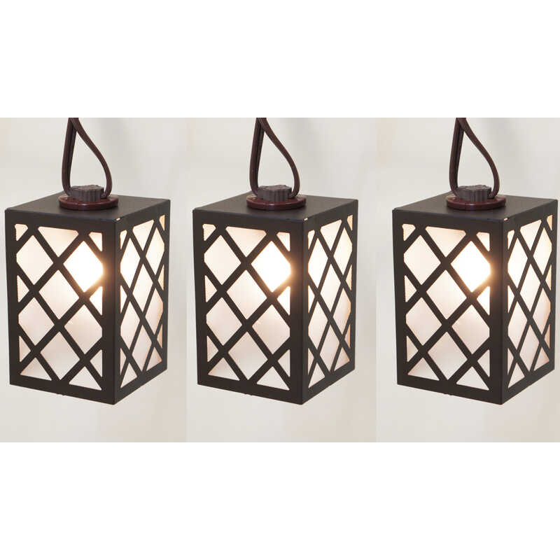 Living Accents  LED C7  Brown Lantern  Light Set  Clear  9 ft. 10 lights