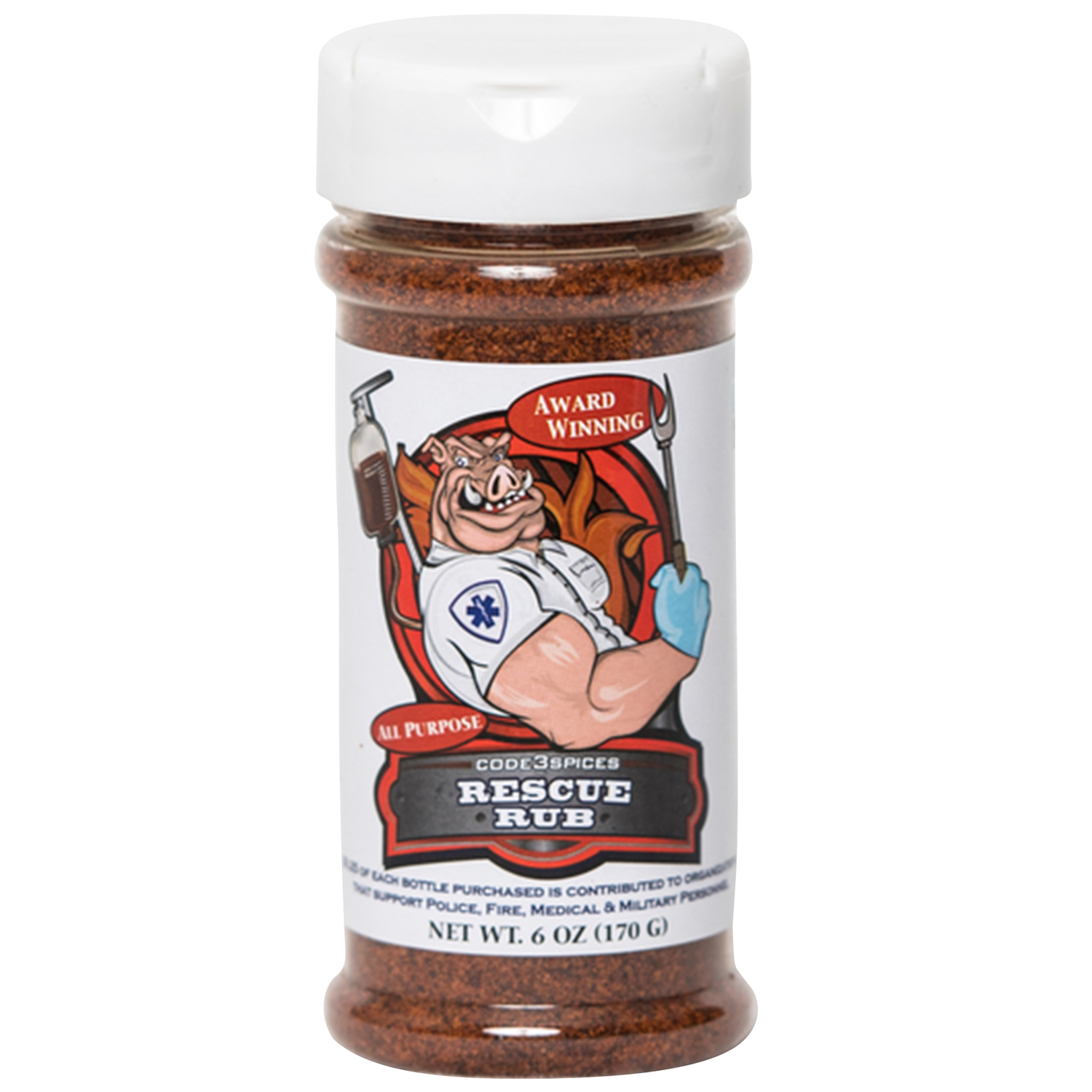 Code 3 Spices  Rescue Rub  All Purpose  BBQ Seasoning  6 oz.