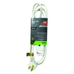 Ace Indoor 6 ft. L White Extension Cord 16/3 SPT-3