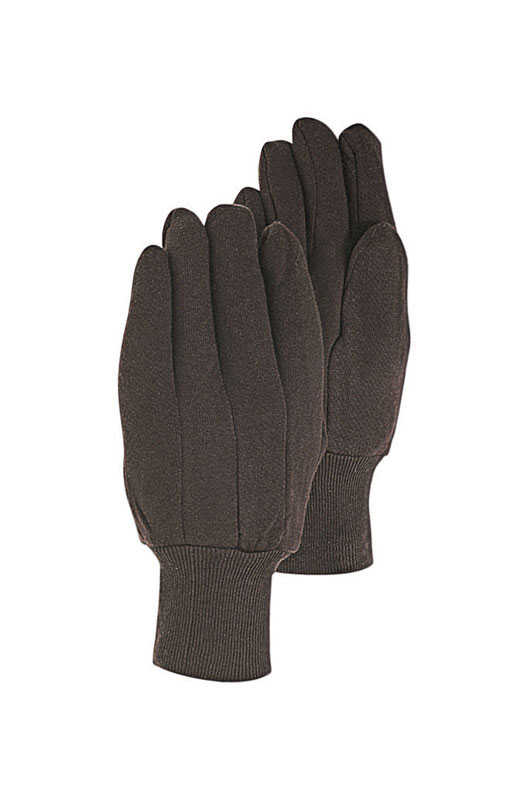 Handmaster  Jersey Cotton  Utility  Brown  Gloves  L