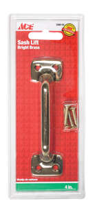 Ace  4 in. L Bright  Brass  Sash Lift Handle  1 pk Universal