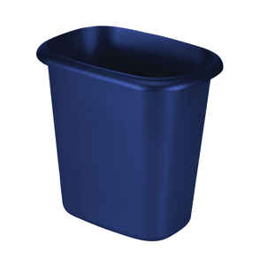 Rubbermaid  6 qt. Blue  Open Top  Wastebasket