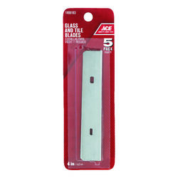 Ace  4 in. W Steel  Glass/Tile  Scraper Blade