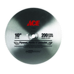 Ace  10 in. Dia. x 5/8 in.  Steel  Circular Saw Blade  200 teeth 1 pk