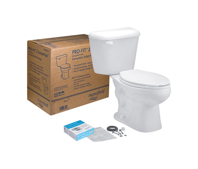 Mansfield  Elongated  Complete Toilet  1.28 gal. White