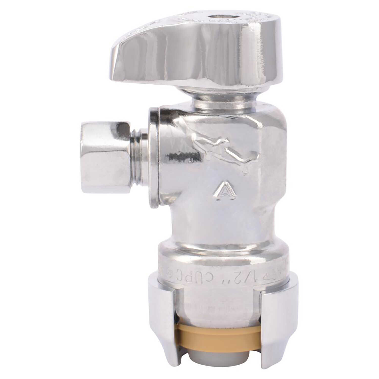 SharkBite  1/2 in.  x 1/4 in.  Stop Valve  Angle  Brass