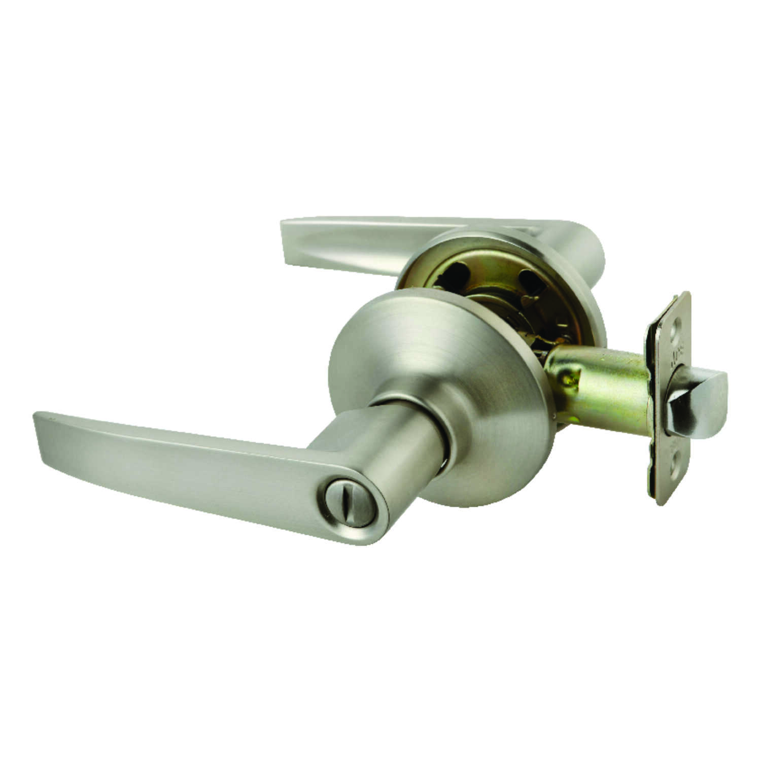 Ace  Straight Lever  Satin  Stainless Steel  ANSI Grade 3  Privacy Lockset  1-3/4 in.