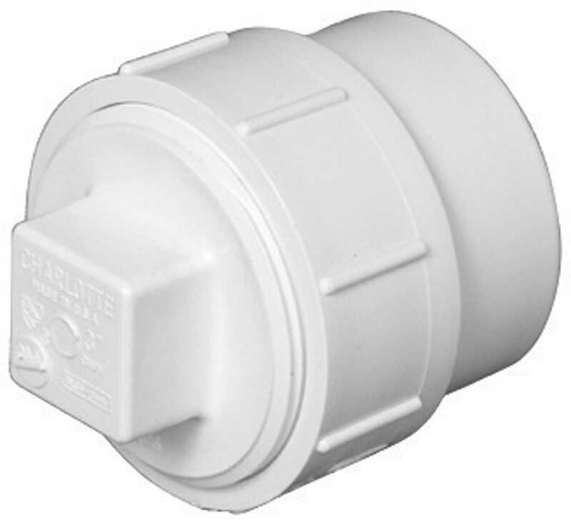 Charlotte Pipe  Schedule 40  1-1/2 in. Spigot   x 1-1/2 in. Dia. FPT  PVC  Cleanout Adapter