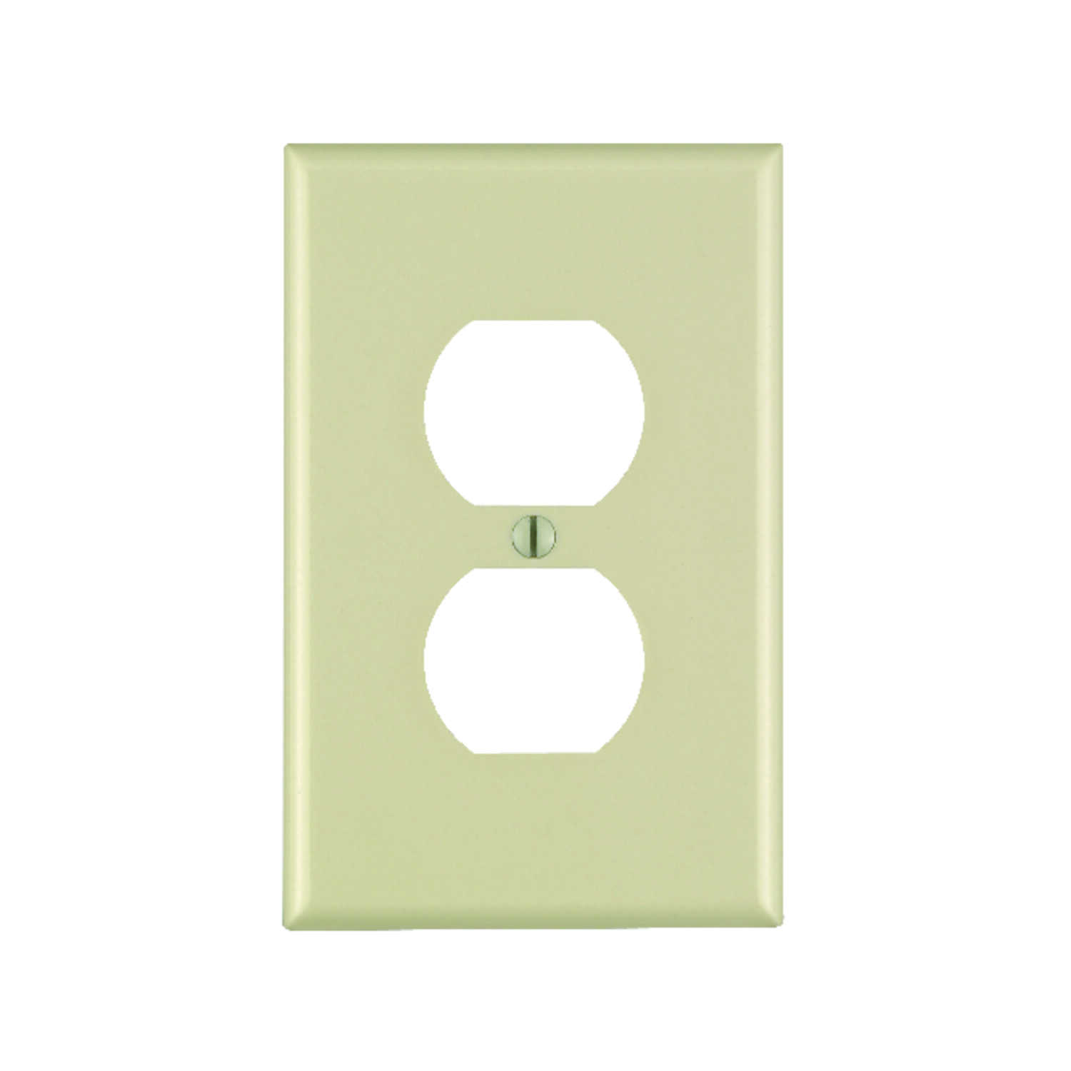 Leviton  Decora  Ivory  1 gang Plastic  Duplex Outlet  Wall Plate  1 pk