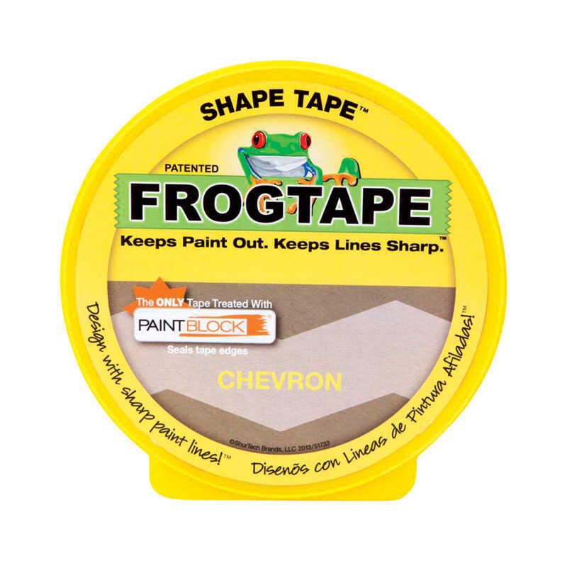 FrogTape  1.81 in. W x 60 yd. L Yellow  Low Strength  Painter's Tape  1 pk