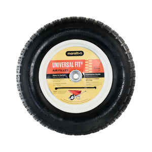 Marathon  8 in. Dia. x 14.5 in. Dia. 300 lb. capacity Centered  Wheelbarrow Tire  Rubber
