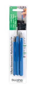 Dasco Pro  Marking and Starter  Punch Set  Blue  3 pc.