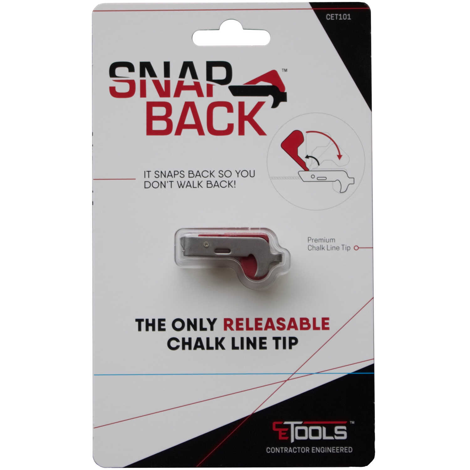 CE Tools  SnapBack  Releasable Chalk Line Tip