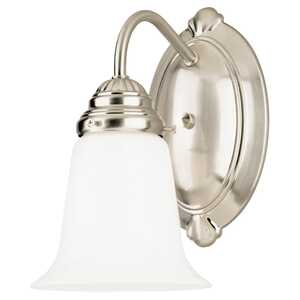 Westinghouse  Brushed Nickel  1  Wall Sconce  White