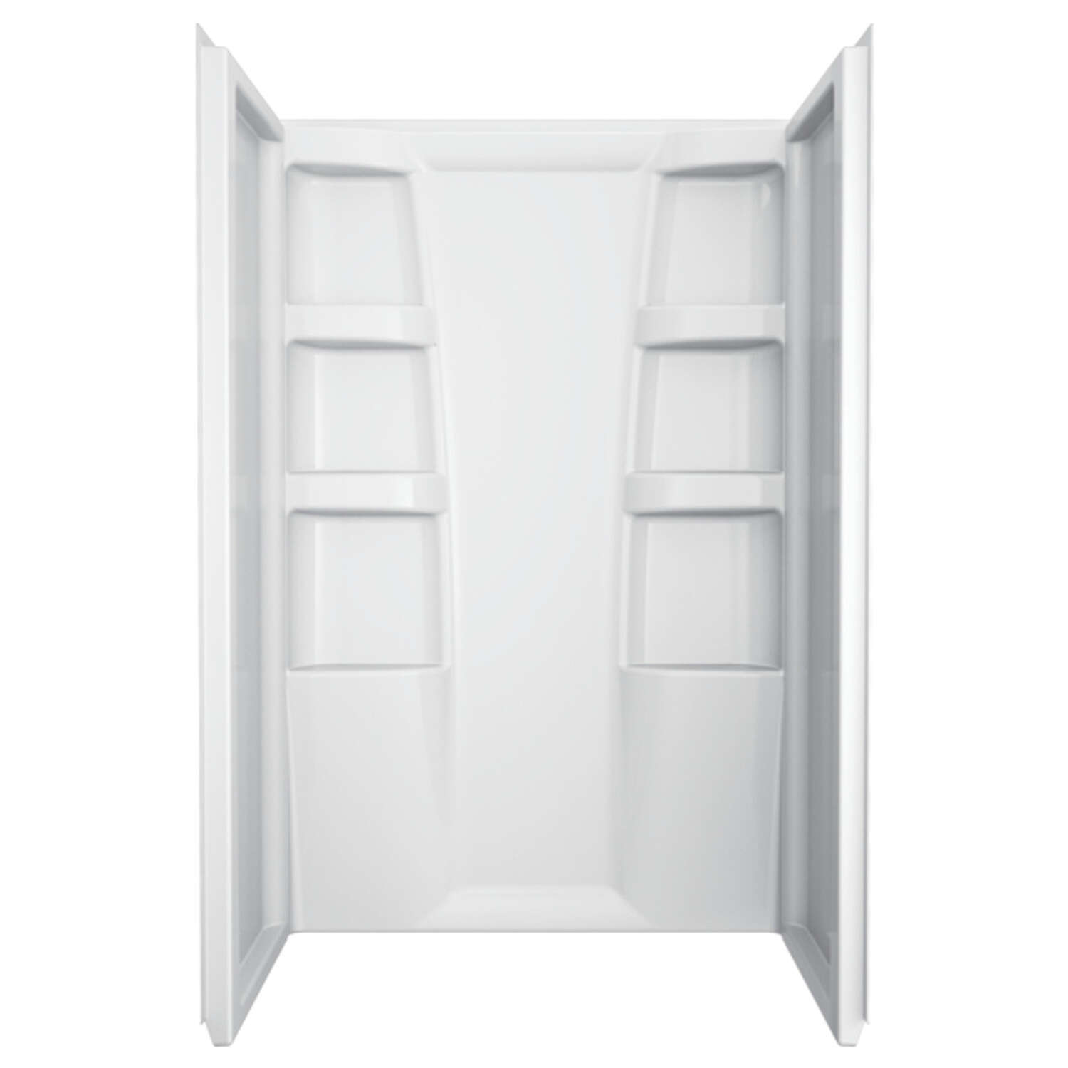 Delta  Hycroft  73.5 inch  H x 34 inch  W x 48 inch  L White  Shower Surround