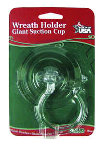 Adams  Clear  Suction Cup Wreath Hanger  12 in. L
