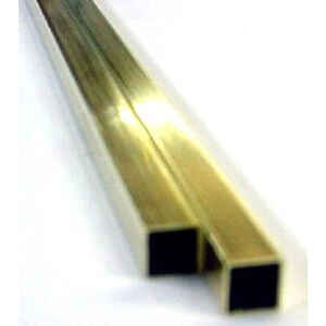 K&S  7/32 in. Dia. x 12 in. L Square  Brass Tube  1 pk