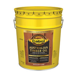 Cabot Transparent Mahogany Flame Oil-Based Alkyd Australian Timber Oil 5 gal.