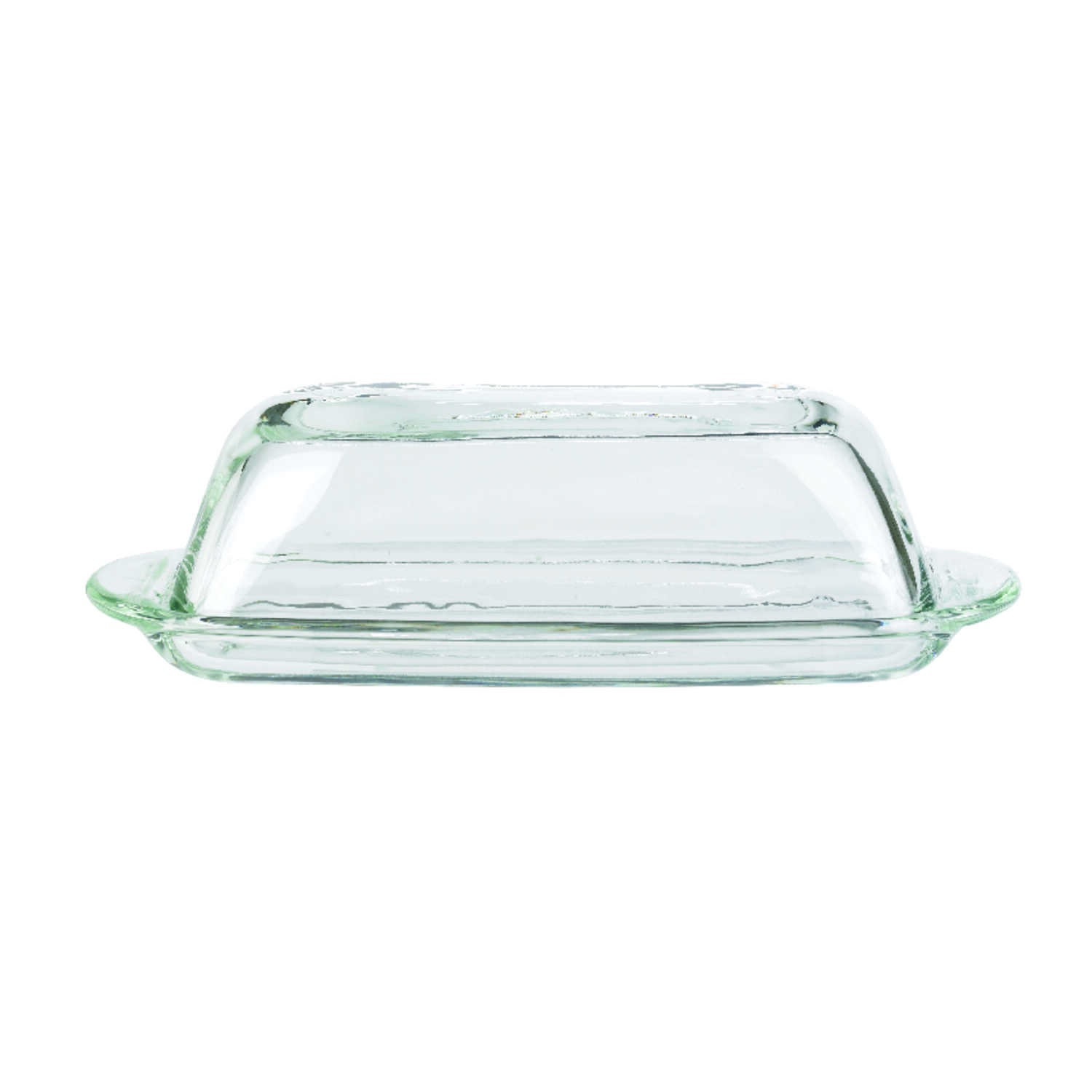 Anchor Hocking  Clear  Glass  Butter Dish  1 pk