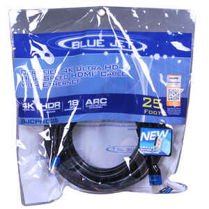Blue Jet  25 ft. L High Speed Cable with Ethernet  HDMI