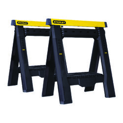 Stanley 31-1/8 in. H x 29-1/8 in. W x 2-7/8 in. D Adjustable 2 Way Adjustable Sawhorse 1000 lb. ca