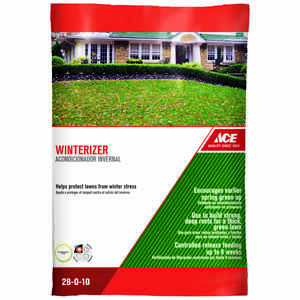 Ace  28-0-10  Winterizer Lawn Fertilizer  For All Grass Types 14 lb. 5000 sq. ft.