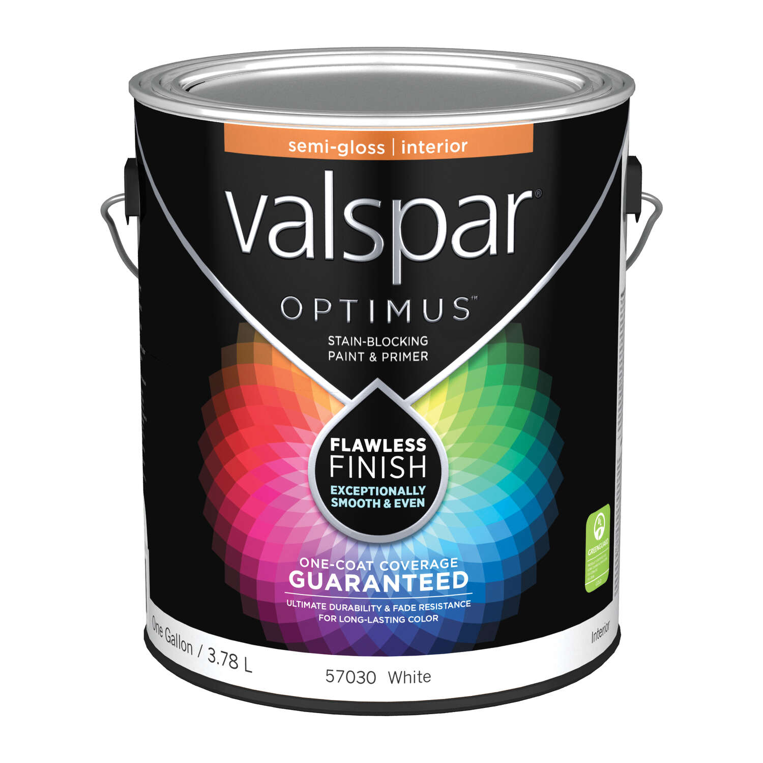 Valspar  Optimus  Semi-Gloss  Acylic Latex  Paint and Primer  1 gal. Basic White