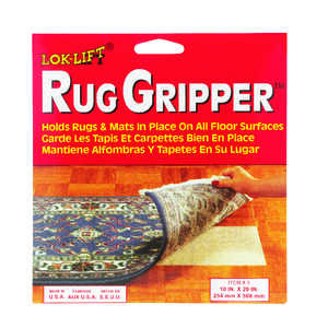 Lok-Lift  10 in. W x 20 in. L Scrim  Reversible Indoor  Rug Gripper