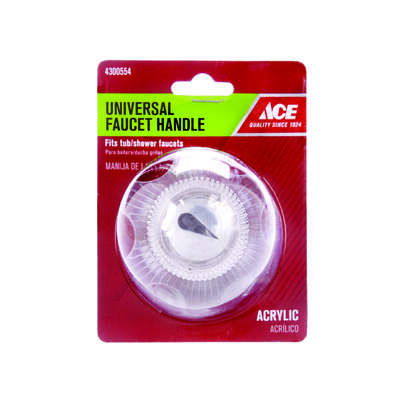 Ace  For Universal Clear  Bathroom, Tub and Shower  Faucet Handles