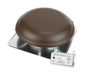 Air Vent  26 in. H x 26 in. W x 9 in. L x 14.5 in. Dia. Brown  Steel  Power Roof Ventilator