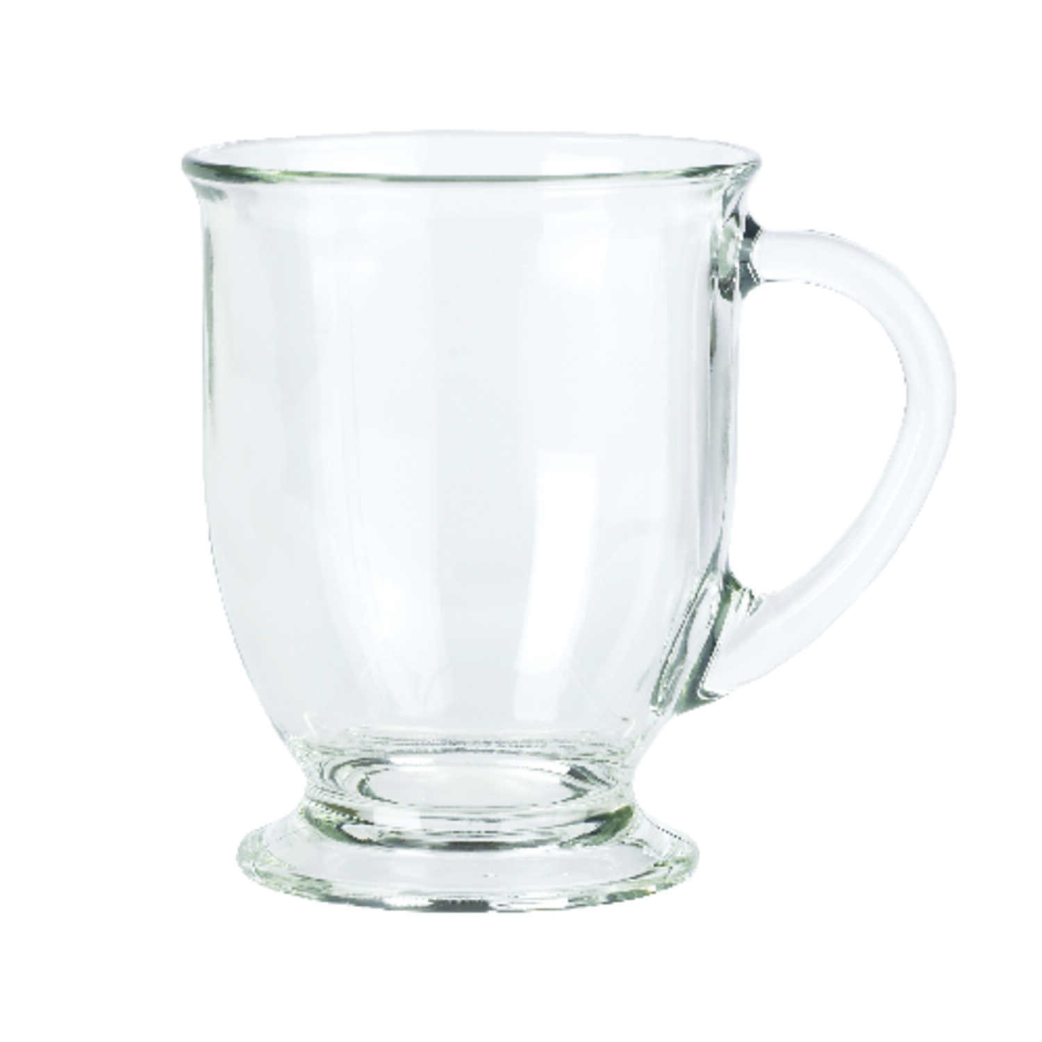 Anchor Hocking  Clear  Glass  Mug  6 pk